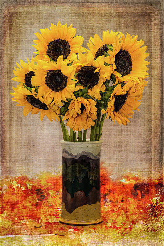 Fine Art Photography Art Print featuring the photograph Sunflowers by John Strong