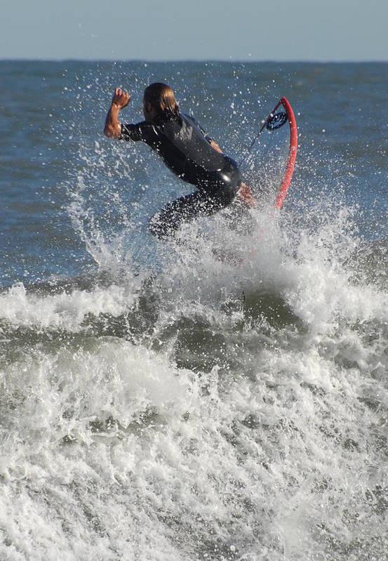 Surfer Art Art Print featuring the photograph Surfing 92 by Joyce StJames