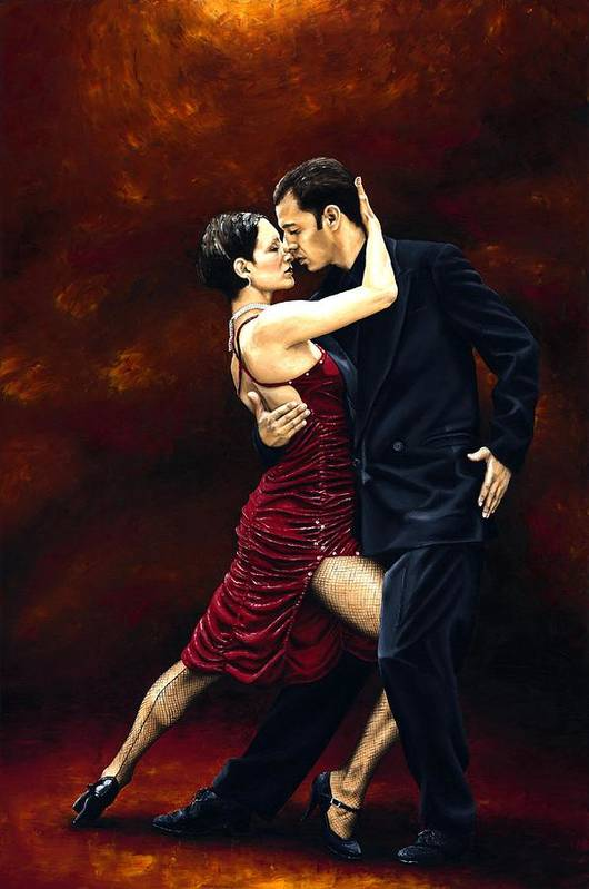 Tango Art Print featuring the painting That Tango Moment by Richard Young