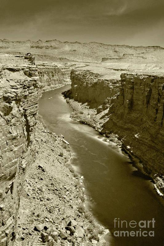 Colorado Art Print featuring the photograph The Colorado River by Pete Hellmann