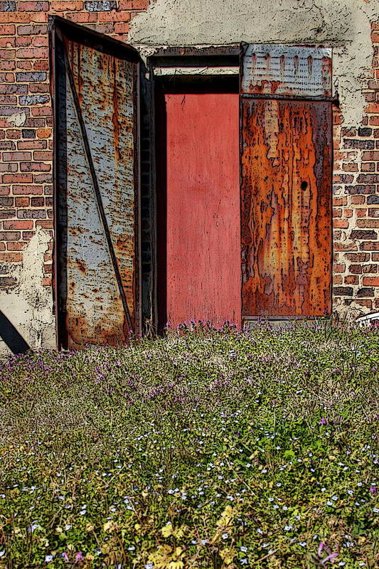 Rust Art Print featuring the photograph The Door by Alan Skonieczny