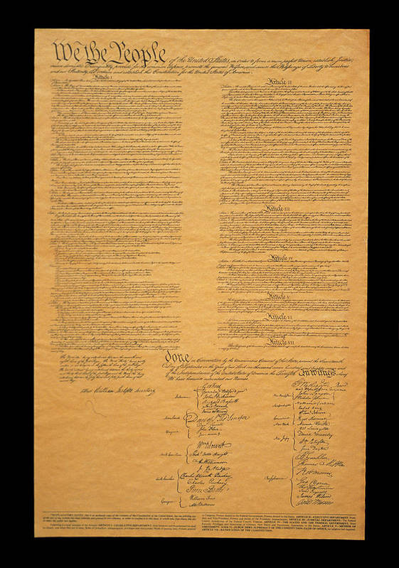Photography Art Print featuring the photograph The Original United States Constitution by Panoramic Images