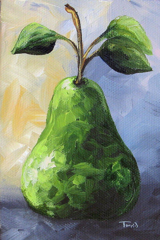 Pear Art Print featuring the painting The Pear Chronicles 002 by Torrie Smiley