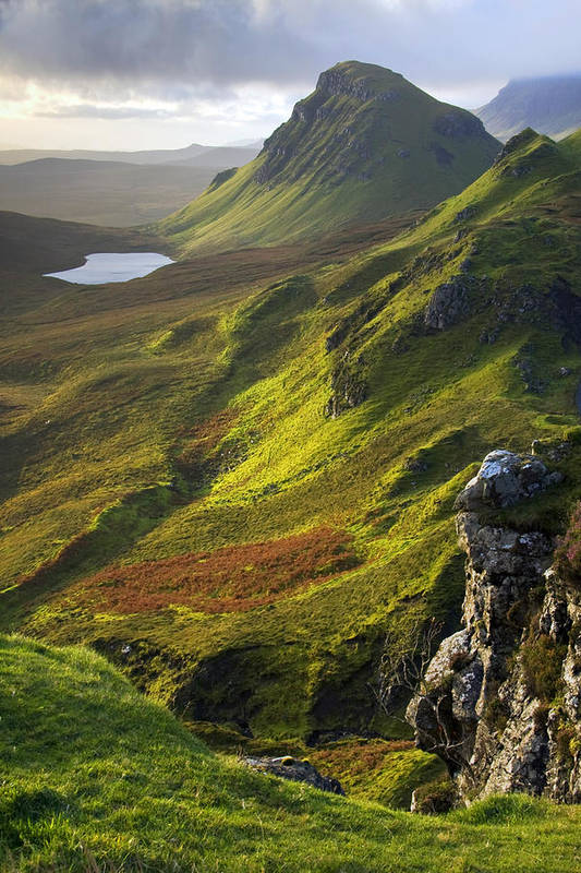Scotland Art Print featuring the photograph The Trotternish Hills from the Quiraing Isle of Skye by John McKinlay