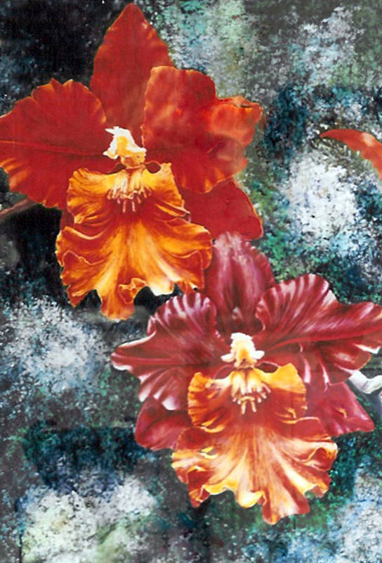 Flowers Art Print featuring the print Tiger Orchids by JoLyn Holladay