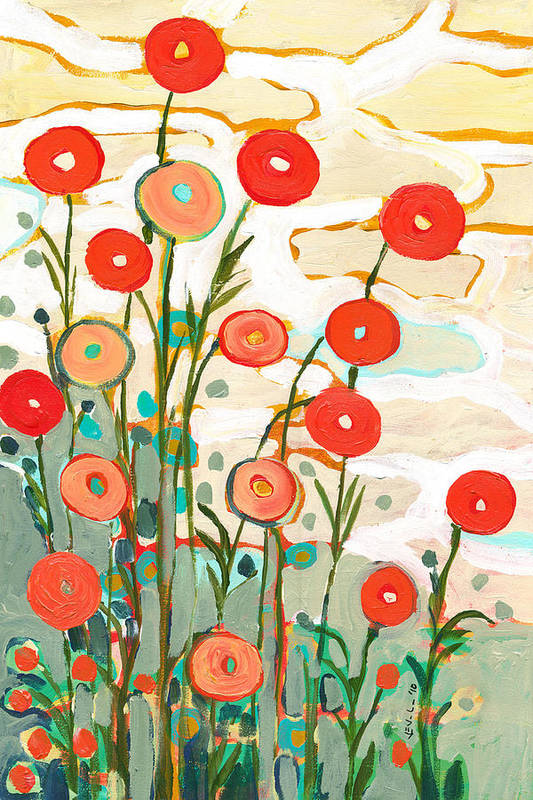 Poppy Art Print featuring the painting Under the Desert Sky by Jennifer Lommers