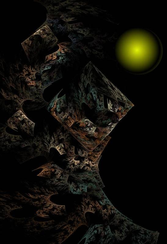 Fantasy Art Print featuring the digital art Untitled 12-18-09 by David Lane