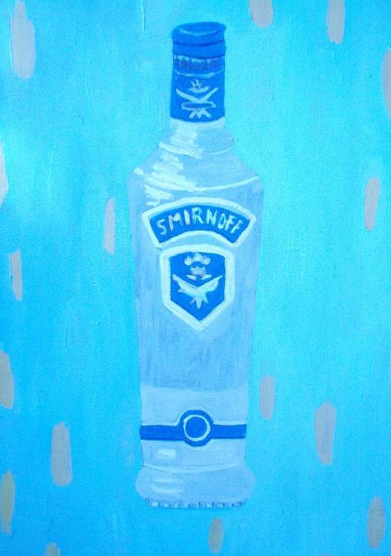 Pop Art Art Print featuring the painting Vodka by Patrice Tullai