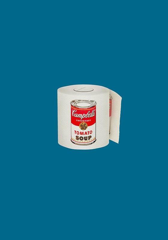 Warhol Art Print featuring the digital art War Roll - Poop Art by Nicholas Ely