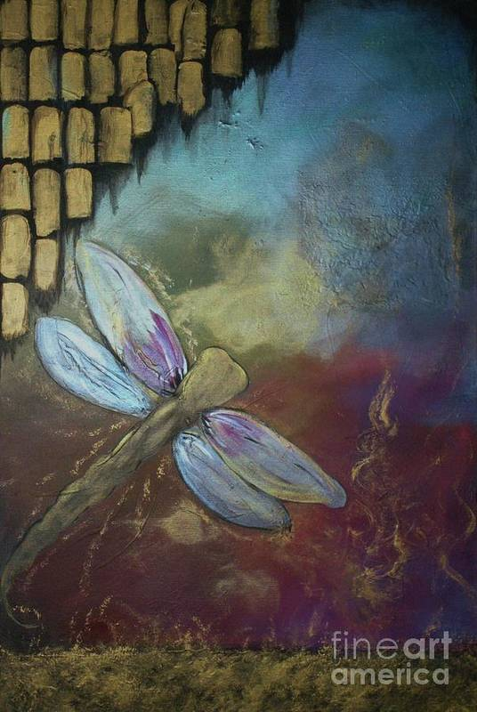 Mystical Art Print featuring the painting Wings II by Patti Spires Hamilton