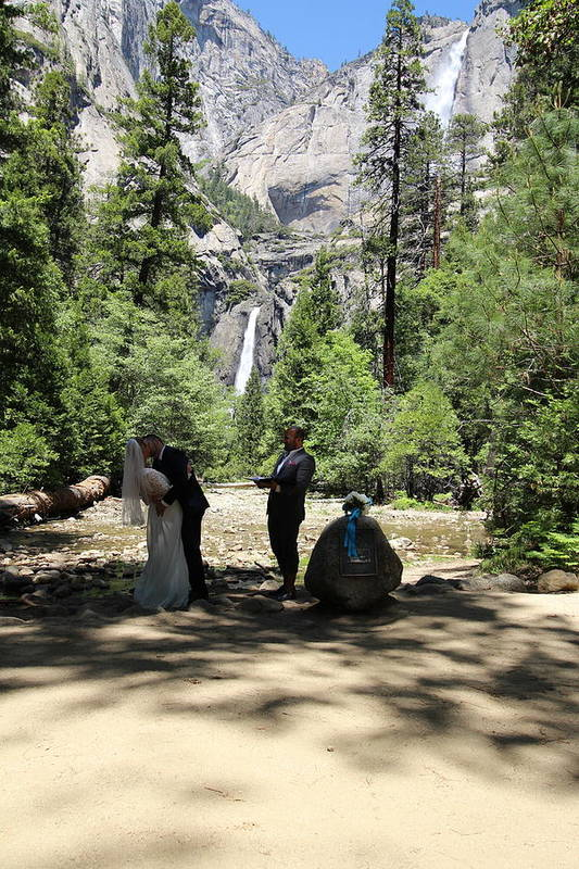 Art Print featuring the painting Yosemite Wedding by Travis Day