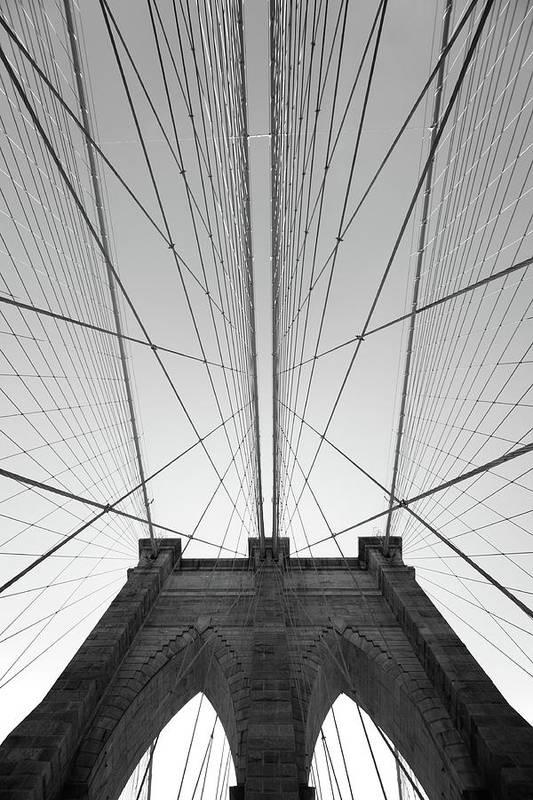 Arch Art Print featuring the photograph Brooklyn Bridge by Jimschemel