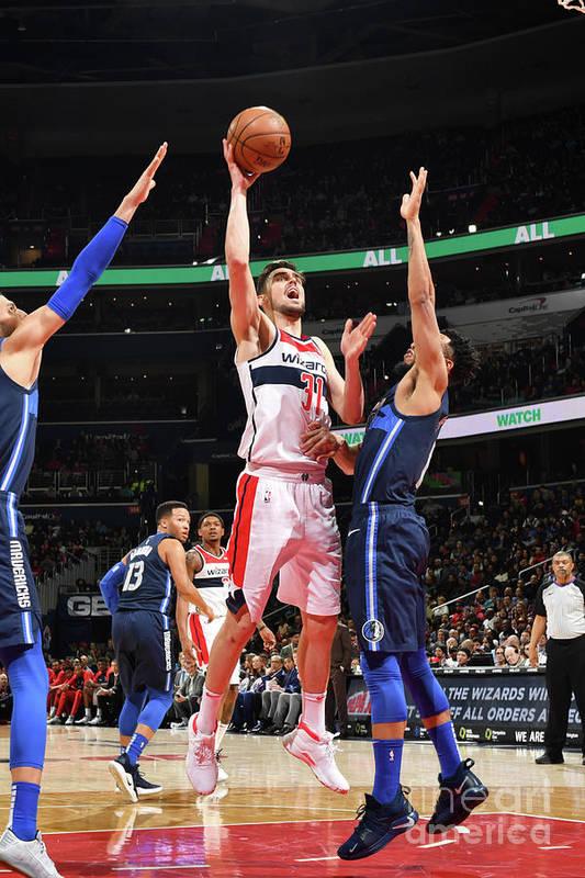 Nba Pro Basketball Art Print featuring the photograph Dallas Mavericks V Washington Wizards by Jesse D. Garrabrant