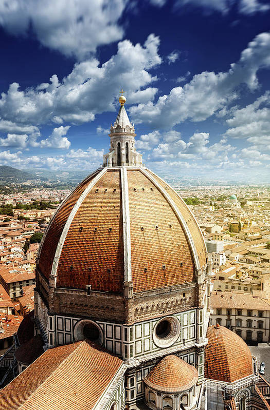 Scenics Art Print featuring the photograph Duomo In Florence by Da-kuk