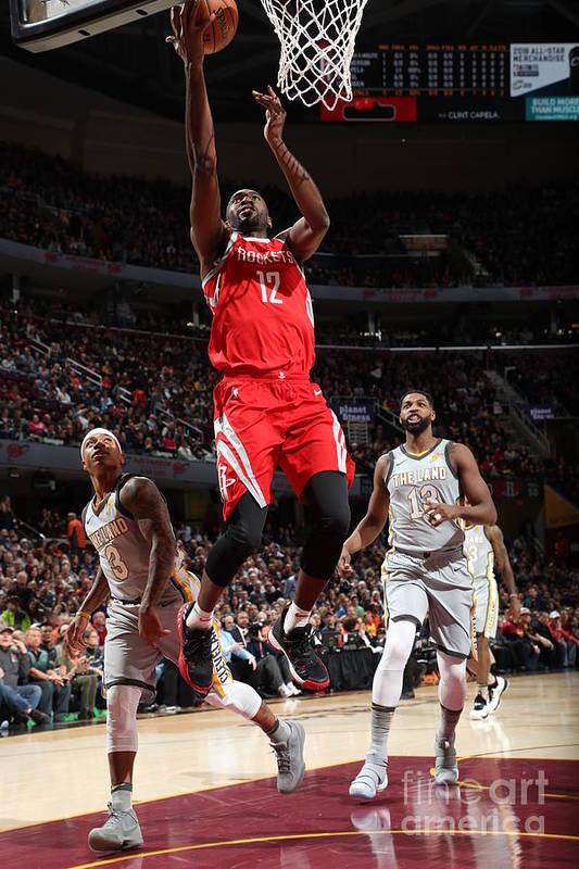 Nba Pro Basketball Art Print featuring the photograph Houston Rockets V Cleveland Cavaliers by Joe Murphy