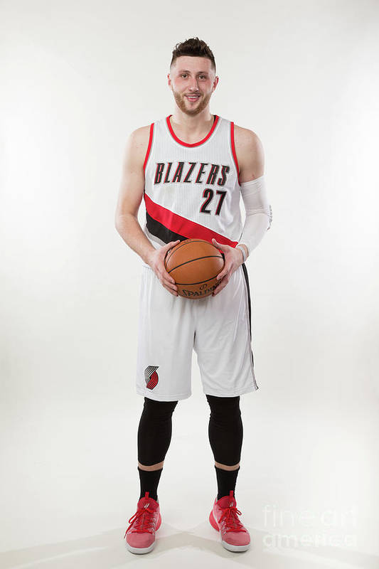 Jusuf Nurkić Art Print featuring the photograph Jusuf Nurkic Photo Shoot by Sam Forencich