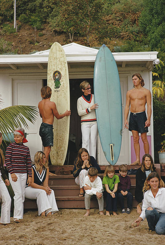 Laguna Beach Art Print featuring the photograph Laguna Beach Surfers by Slim Aarons