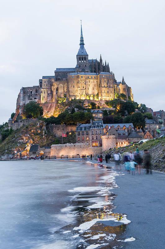 Mont Saint-michel Art Print featuring the photograph Le Mont Saint Michel, Normandy, France by John Harper