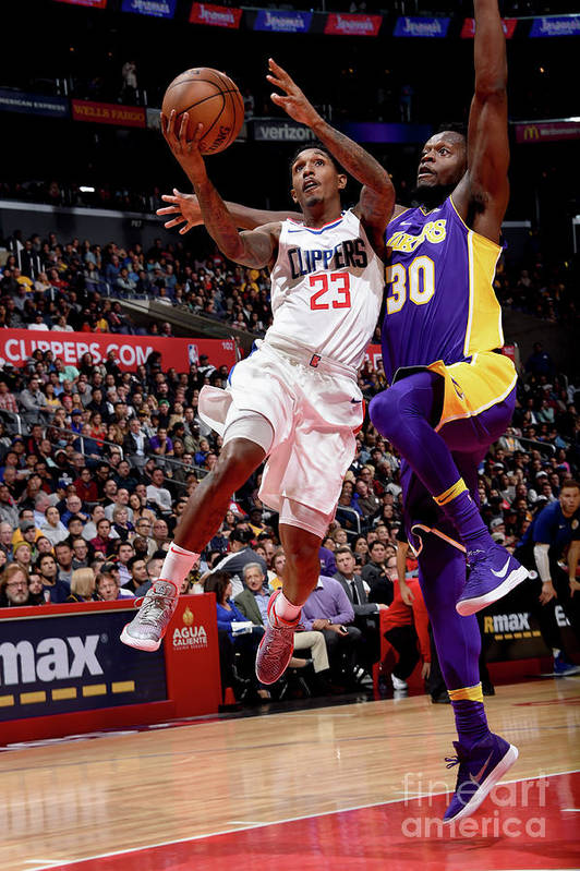 Nba Pro Basketball Art Print featuring the photograph Los Angeles Lakers V La Clippers by Andrew D. Bernstein