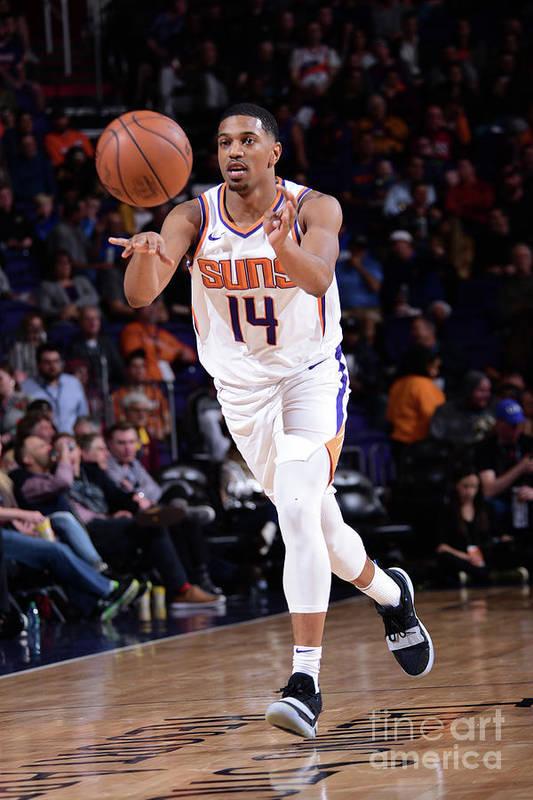 Nba Pro Basketball Art Print featuring the photograph Minnesota Timberwolves V Phoenix Suns by Michael Gonzales