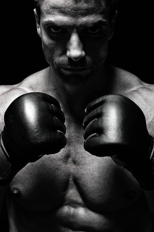 Toughness Art Print featuring the photograph Mma Fighter by Vuk8691