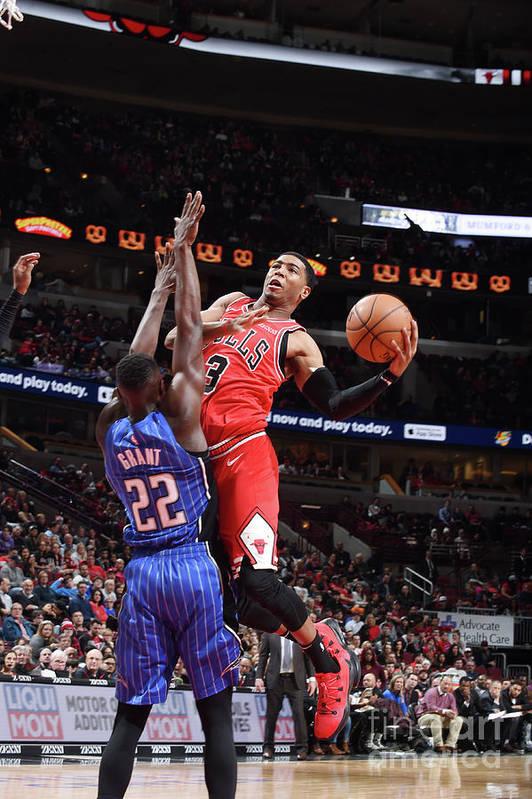 Nba Pro Basketball Art Print featuring the photograph Orlando Magic V Chicago Bulls by Randy Belice