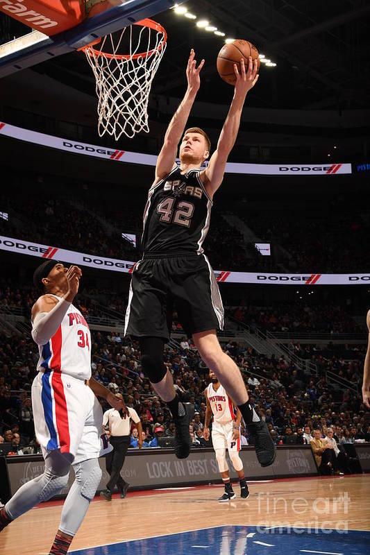 Nba Pro Basketball Art Print featuring the photograph San Antonio Spurs V Detroit Pistons by Chris Schwegler