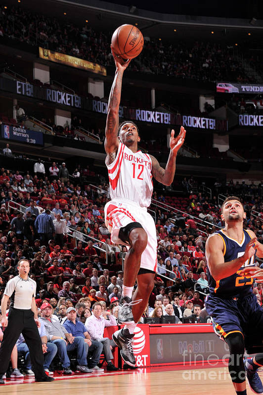 Nba Pro Basketball Art Print featuring the photograph Utah Jazz V Houston Rockets by Bill Baptist