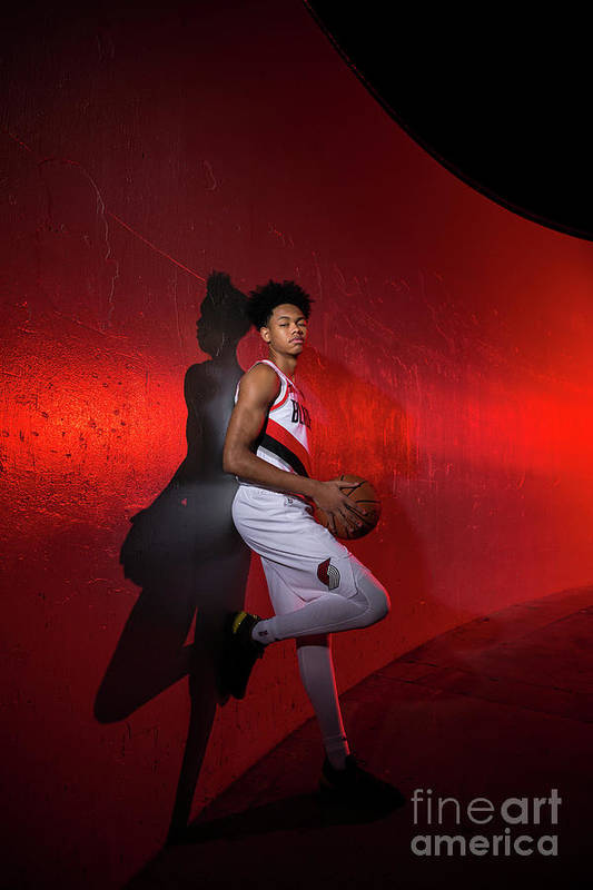 Media Day Art Print featuring the photograph 2018-2019 Portland Trail Blazers Media by Sam Forencich