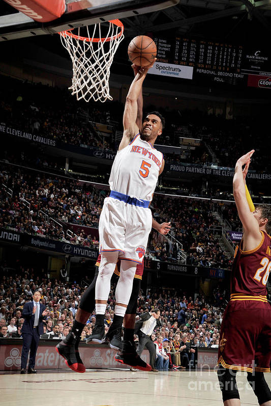 Nba Pro Basketball Art Print featuring the photograph New York Knicks V Cleveland Cavaliers by David Liam Kyle