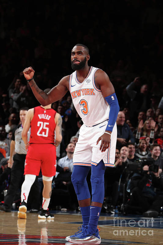 Tim Hardaway Jr. Art Print featuring the photograph Houston Rockets V New York Knicks by Nathaniel S. Butler