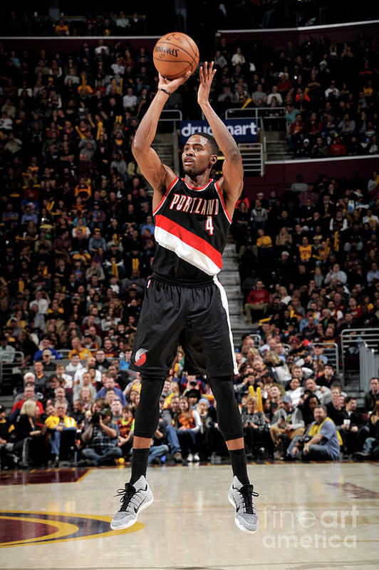 Moe Harkless Art Print featuring the photograph Portland Trail Blazers V Cleveland by David Liam Kyle