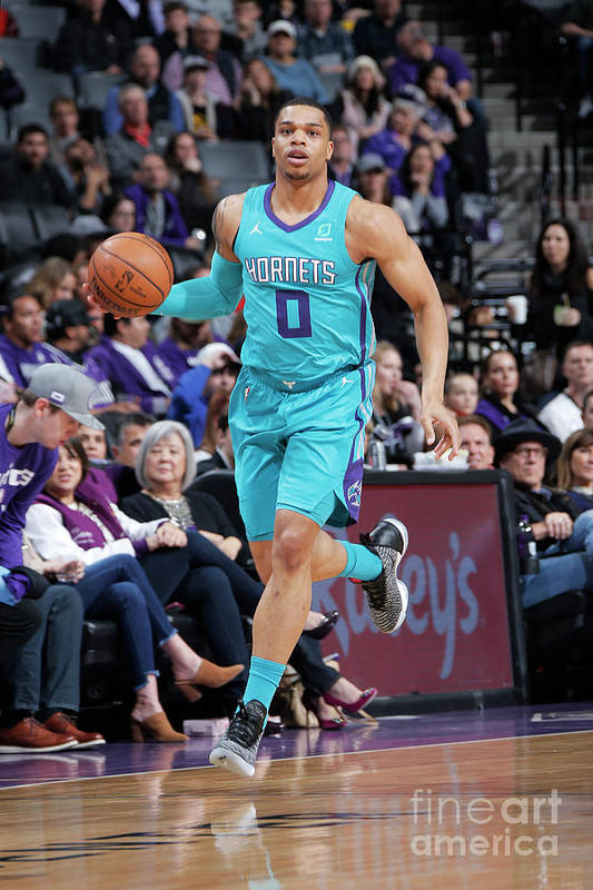 Nba Pro Basketball Art Print featuring the photograph Charlotte Hornets V Sacramento Kings by Rocky Widner