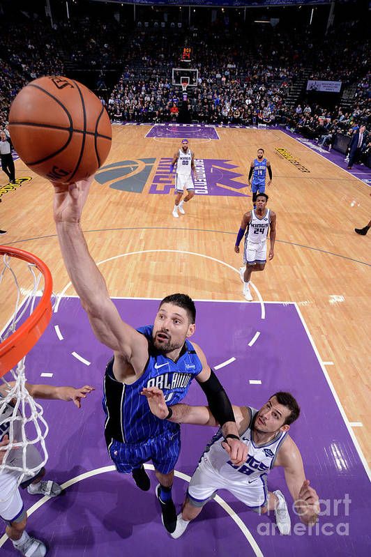 Nba Pro Basketball Art Print featuring the photograph Orlando Magic V Sacramento Kings by Rocky Widner