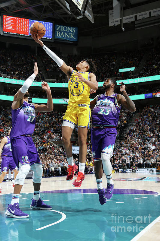 Nba Pro Basketball Art Print featuring the photograph Golden State Warriors V Utah Jazz by Melissa Majchrzak