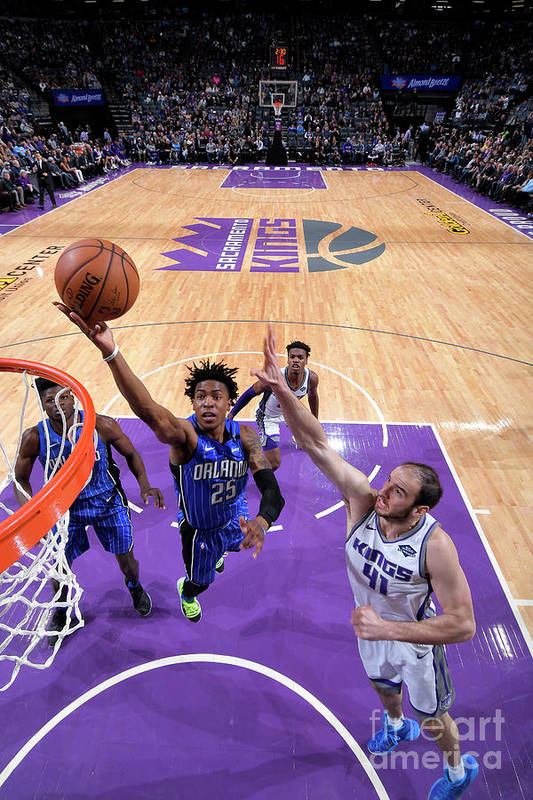 Nba Pro Basketball Art Print featuring the photograph Orlando Magic V Sacramento Kings by Rocky Widner