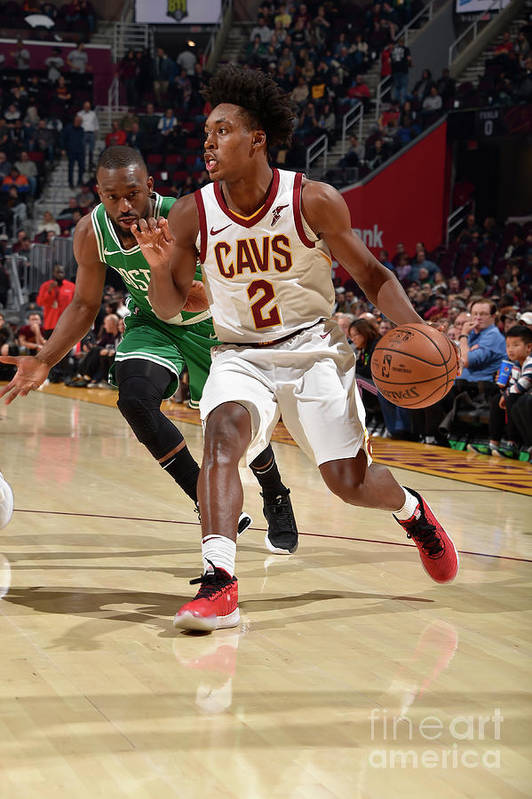 Nba Pro Basketball Art Print featuring the photograph Boston Celtics V Cleveland Cavaliers by David Liam Kyle