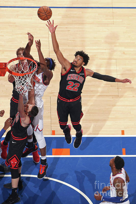 Chicago Bulls Art Print featuring the photograph Chicago Bulls V New York Knicks by Nathaniel S. Butler