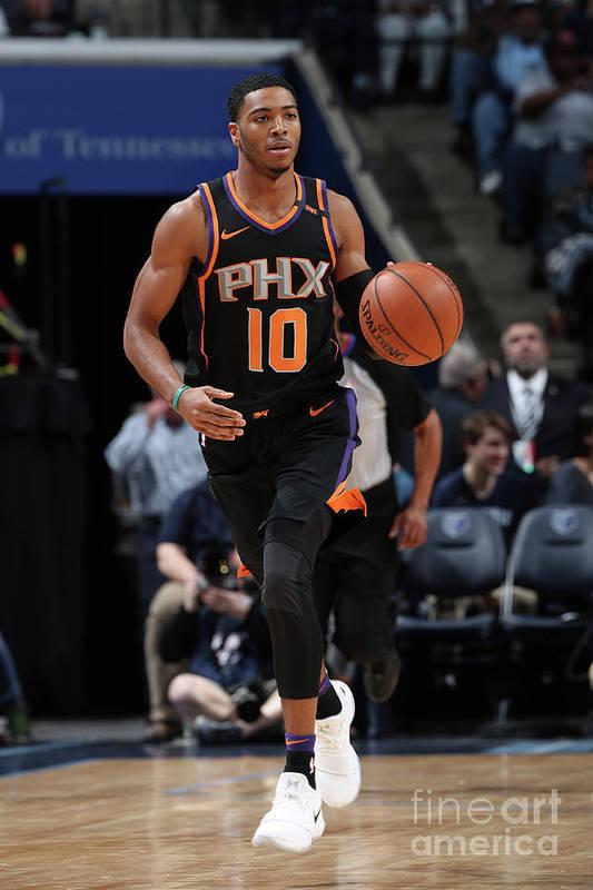 Nba Pro Basketball Art Print featuring the photograph Phoenix Suns V Memphis Grizzlies by Joe Murphy