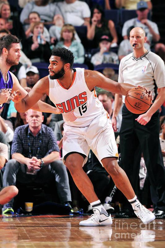 Nba Pro Basketball Art Print featuring the photograph Sacramento Kings V Phoenix Suns by Barry Gossage