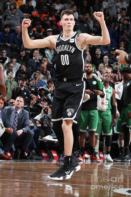 Nba Pro Basketball Art Print featuring the photograph Boston Celtics V Brooklyn Nets by Nathaniel S. Butler