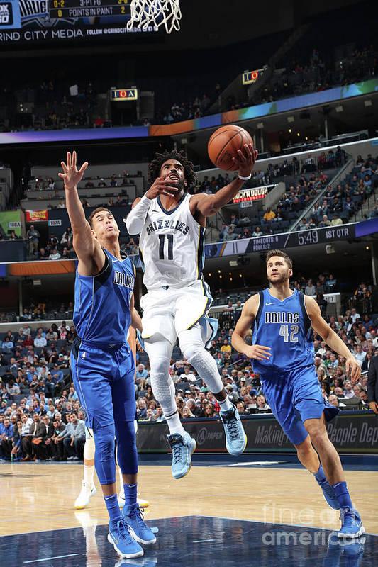 Nba Pro Basketball Art Print featuring the photograph Dallas Mavericks V Memphis Grizzlies by Joe Murphy