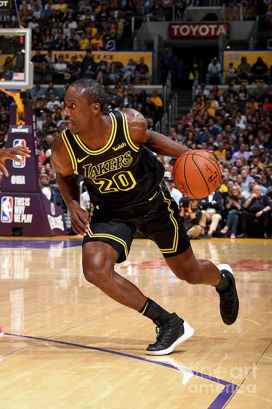 Andre Ingram Art Print featuring the photograph Houston Rockets V Los Angeles Lakers by Andrew D. Bernstein