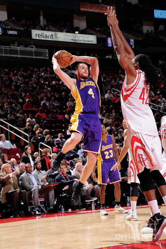 Nba Pro Basketball Art Print featuring the photograph Los Angeles Lakers V Houston Rockets by Bill Baptist