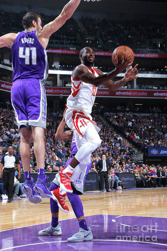 Nba Pro Basketball Art Print featuring the photograph Houston Rockets V Sacramento Kings by Rocky Widner