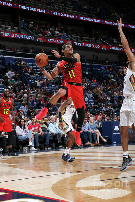Smoothie King Center Art Print featuring the photograph Atlanta Hawks V New Orleans Pelicans by Layne Murdoch Jr.