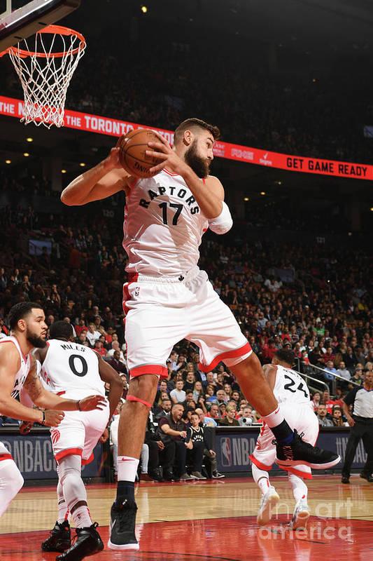 Nba Pro Basketball Art Print featuring the photograph Boston Celtics V Toronto Raptors by Ron Turenne