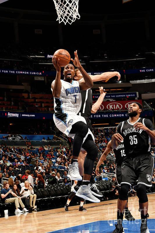 Nba Pro Basketball Art Print featuring the photograph Brooklyn Nets V Orlando Magic by Fernando Medina