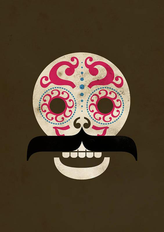 Black Color Art Print featuring the digital art Calaca by Marco Recuero