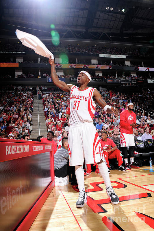 Jason Terry Art Print featuring the photograph Dallas Mavericks V Houston Rockets by Bill Baptist
